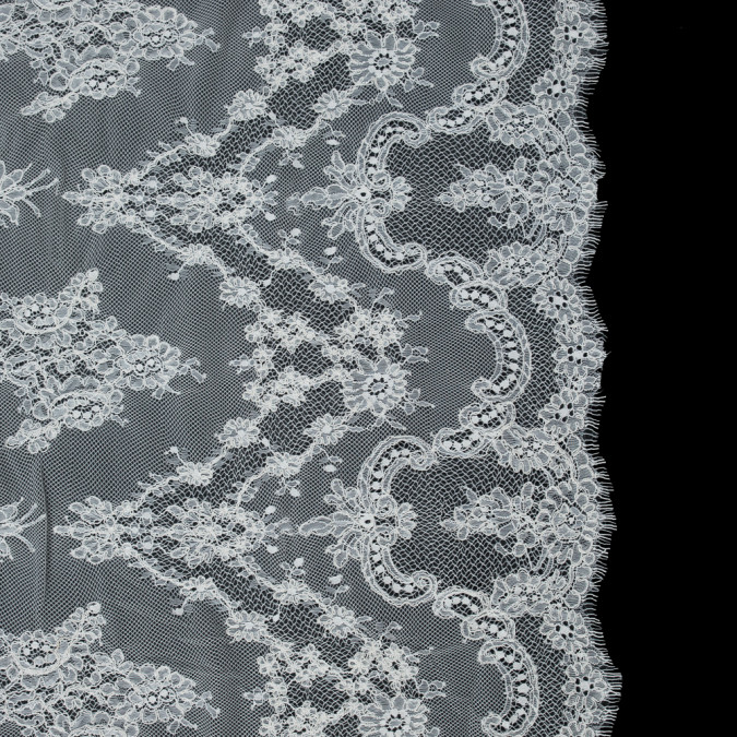 ivory floral corded lace 3 yard panel 316053 11