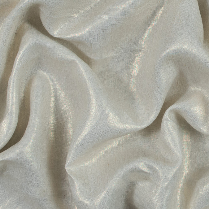 ivory linen woven with gold foil 317603 11