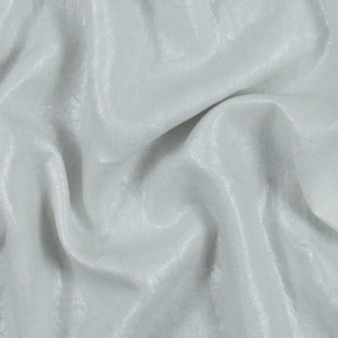 ivory linen woven with silver foil 317601 11