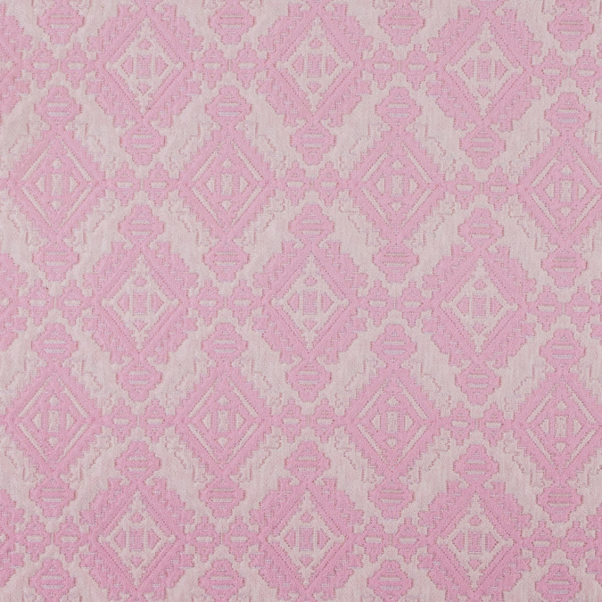 ivory pink geometric brocade 311808 11