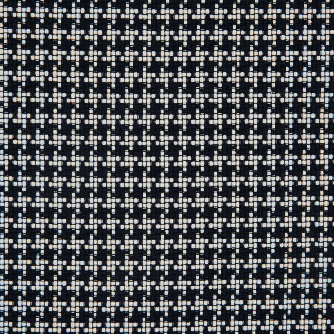 ivory true navy houndstooth cotton tweed 311447 11