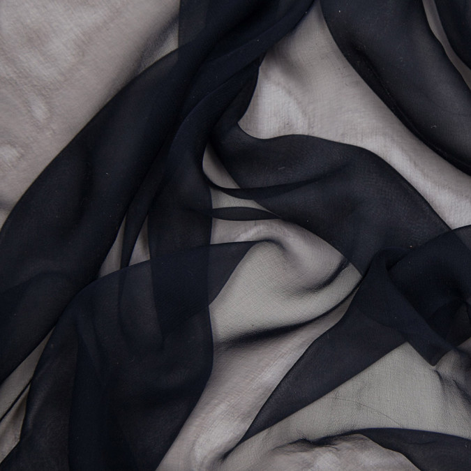 j mendel dark midnight blue french silk chiffon 307317 11