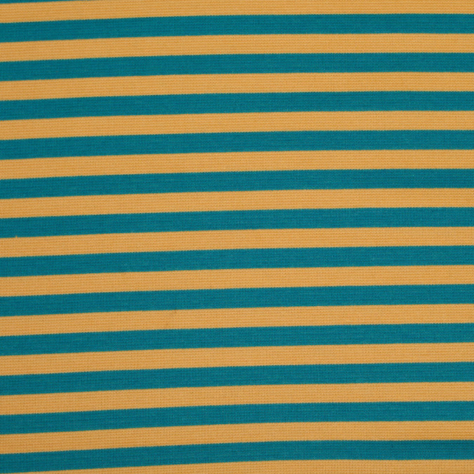 jade and mustard striped polyester blended ponte de roma 107912 11
