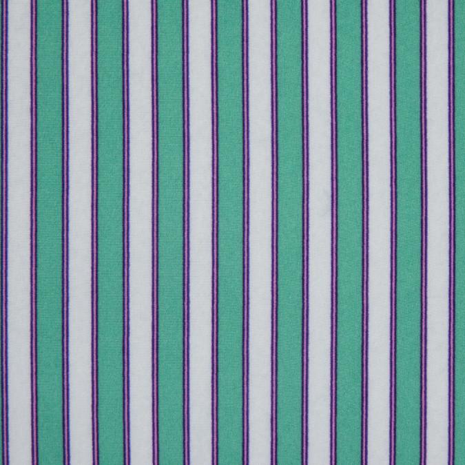 jade cream white striped printed polyester crepe de chine 311747 11