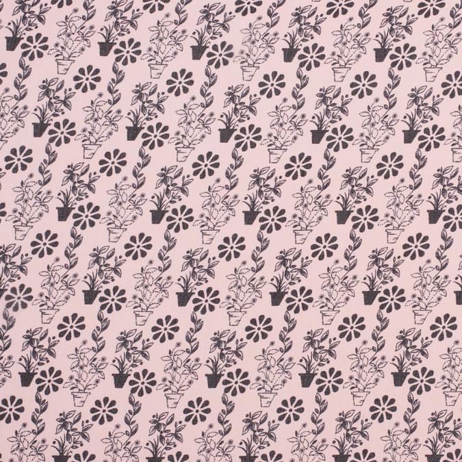 jason wu pink black flower pot silk chifofn 308783 11