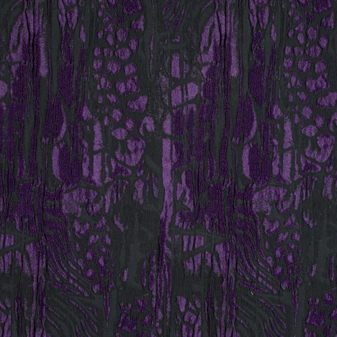 jay godfrey black and majesty purple abstract stretch brocade 314799 11