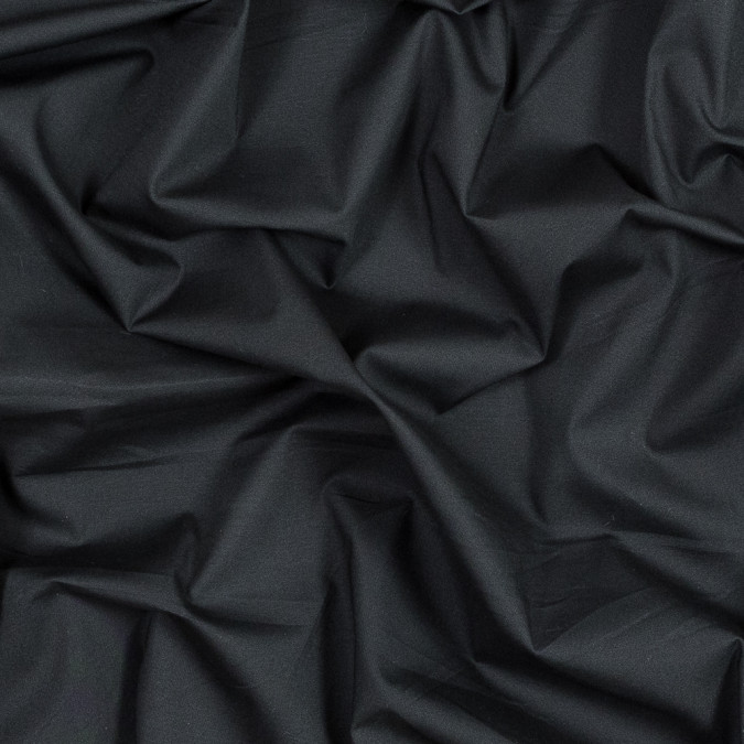 jet black stretch cotton poplin 316020 11