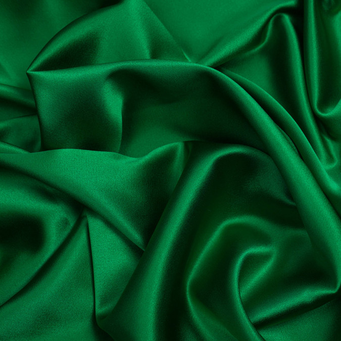 kelly green silk crepe back satin pv8000 197 11