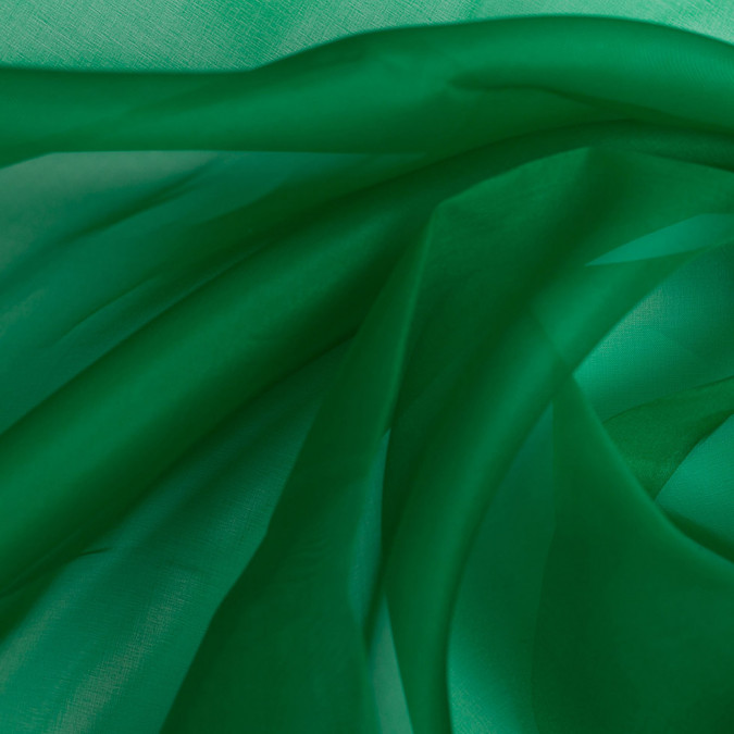 kelly green silk organza pv3000 197 11