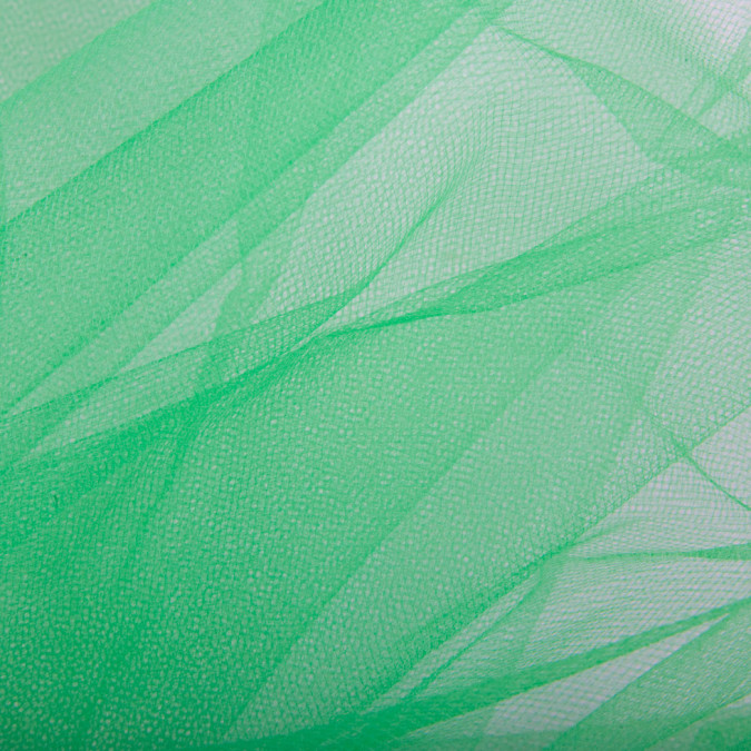 kelly green solid nylon tulle fn13895 11