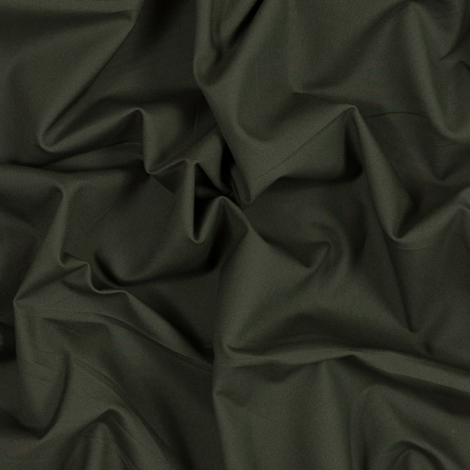 kelp green cotton shirting with mechanical give 315978 11