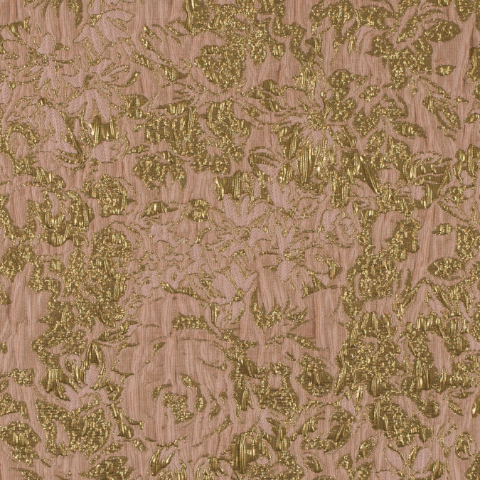 khaki peach and gold abstract floral metallic brocade jacquard 311093 11
