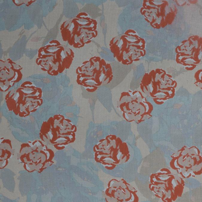 koi orange floral printed silk chiffon 315775 11