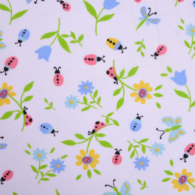 ladybugs and flowers cotton print fc12843 11