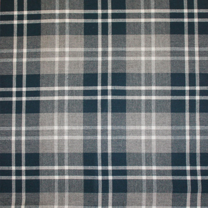 legion blue gray tartan plaid cotton flannel 308624 11