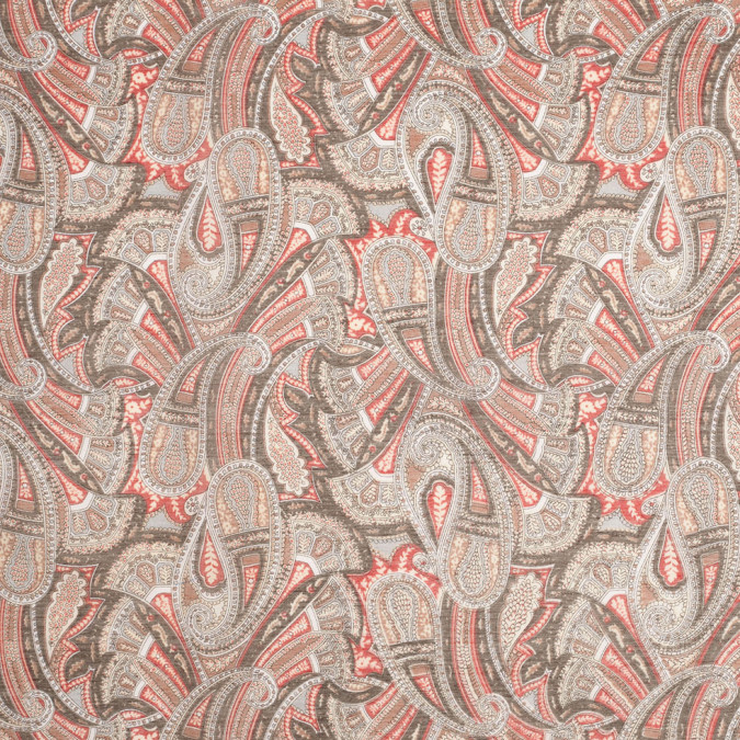 liberty of london sandalwood olive red silk cotton voile 307496 11