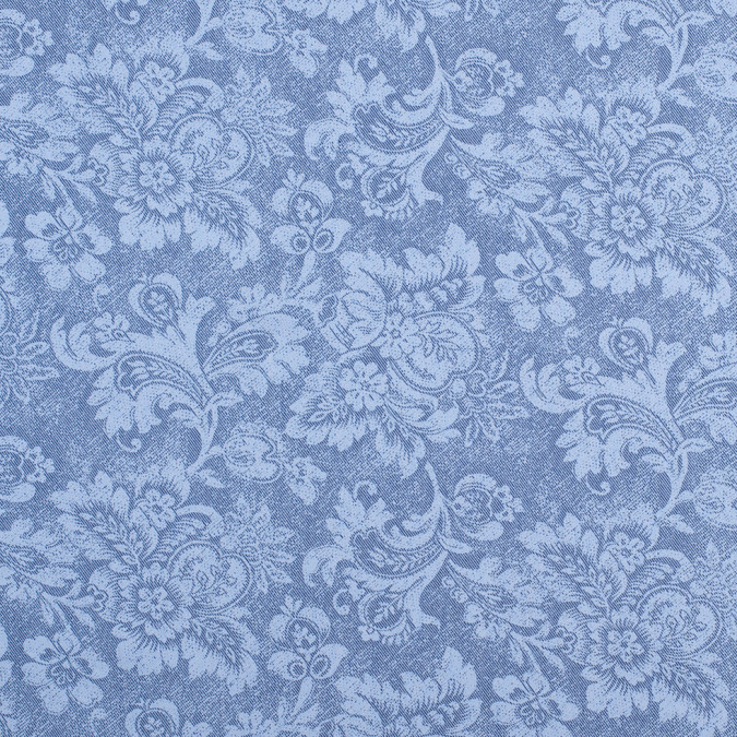 light cornflower blue aruban floral rayon polyester twill 308449 11