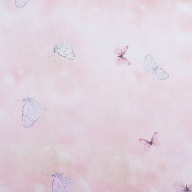 light pink butterfly digitally printed mercerized cotton woven 308446 11