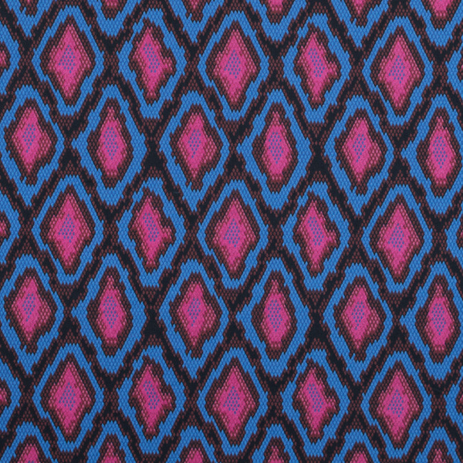 lilac rose and palace blue python printed stretch cotton sateen 117345 11