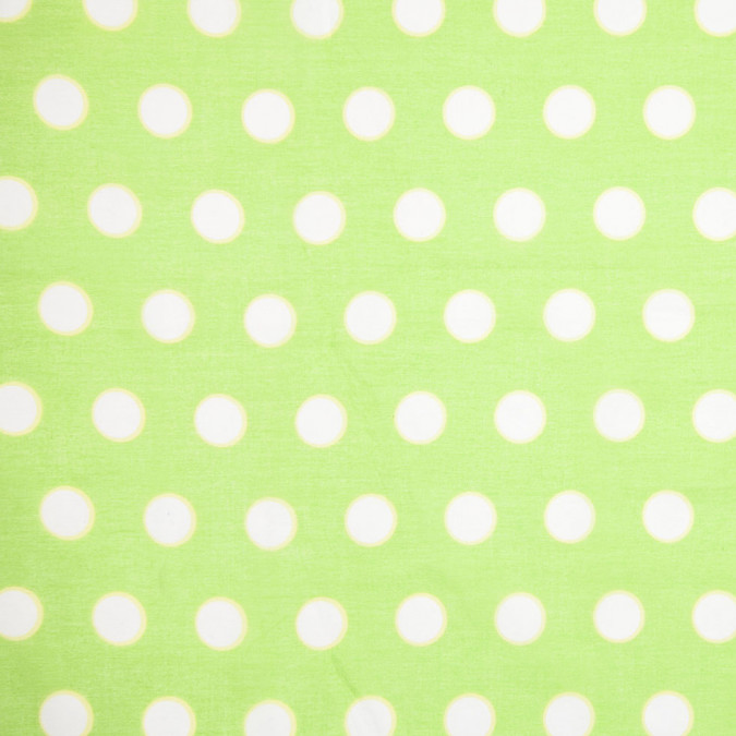lime green polka dot cotton woven 307929 11