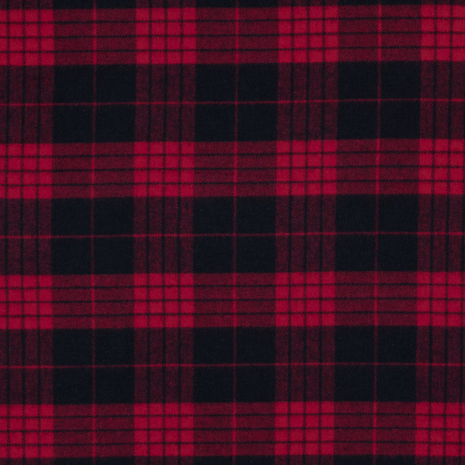 lollipop and black tartan plaid cotton flannel 313730 11