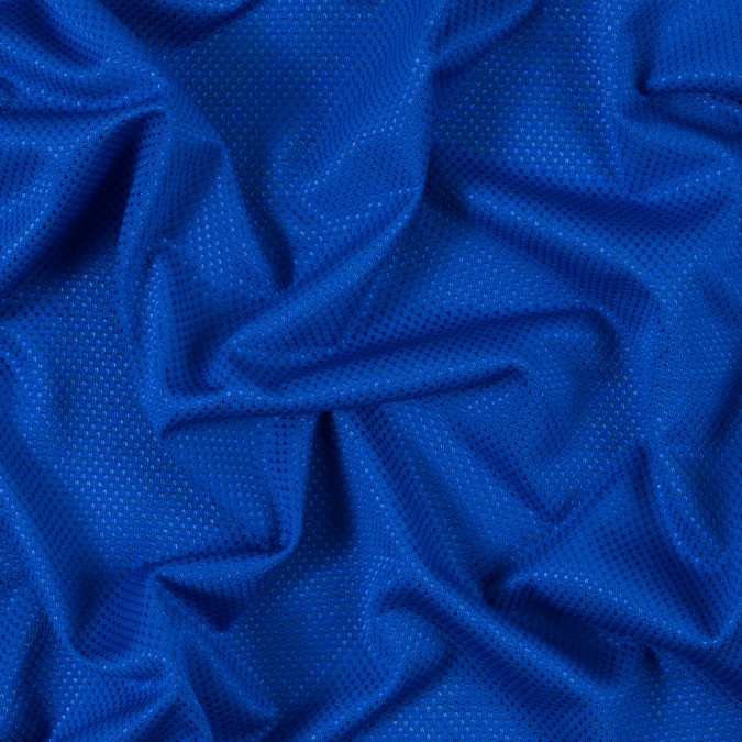 luminous electric blue stretch knit piqued jacquard 312400 11