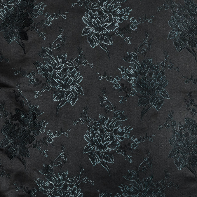 luminous emerald and black floral satin jacquard 318343 11