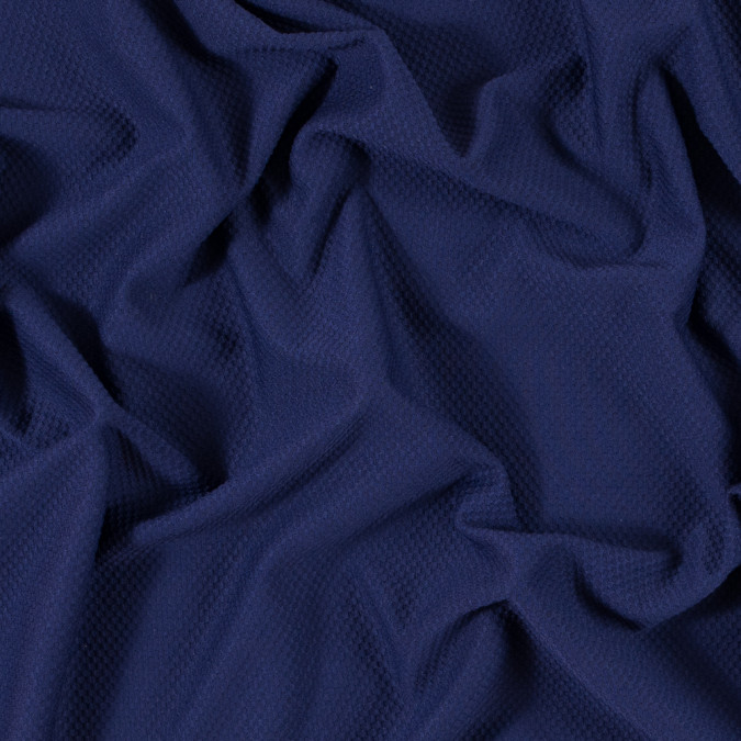 luminous navy stretch knit piqued jacquard 312402 11