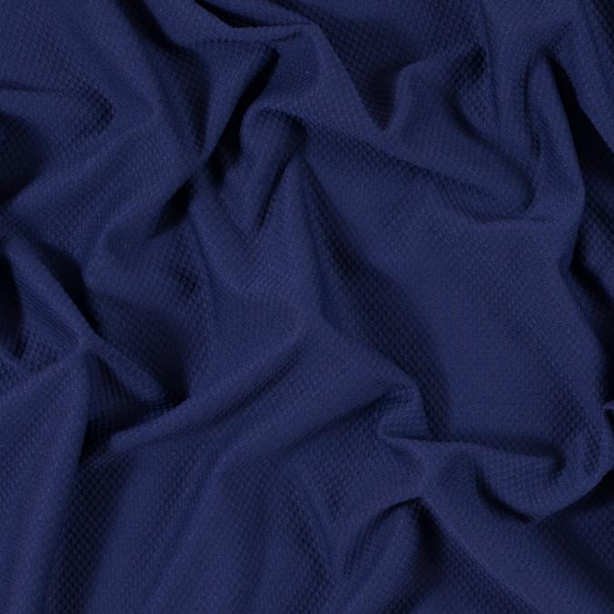 luminous navy stretch knit piqued jacquard 312402 11