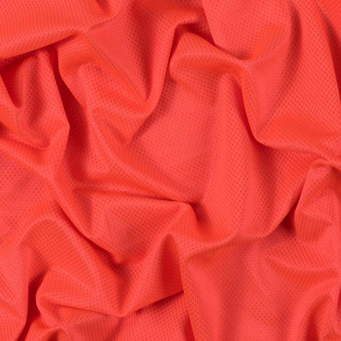 luminous neon orange stretch knit piqued jacquard 312403 11