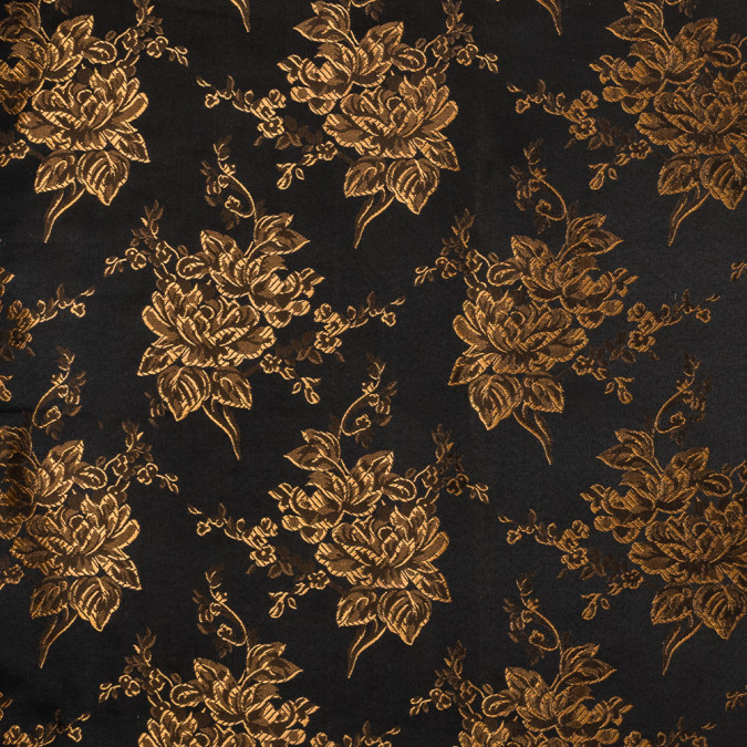 luminous rust and black floral satin jacquard 318341 11