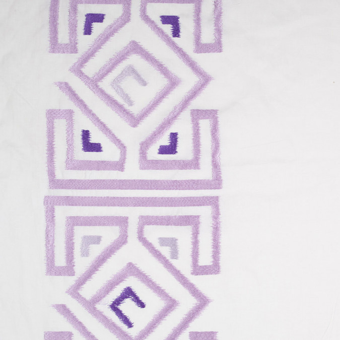lupine purple and white embroidered panel linen 305168 11