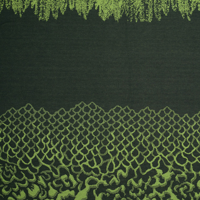 macaw green black abstract polyester jersey panel 306301 11