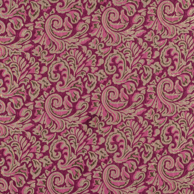 magenta and metallic gold classical brocade fp22143 11