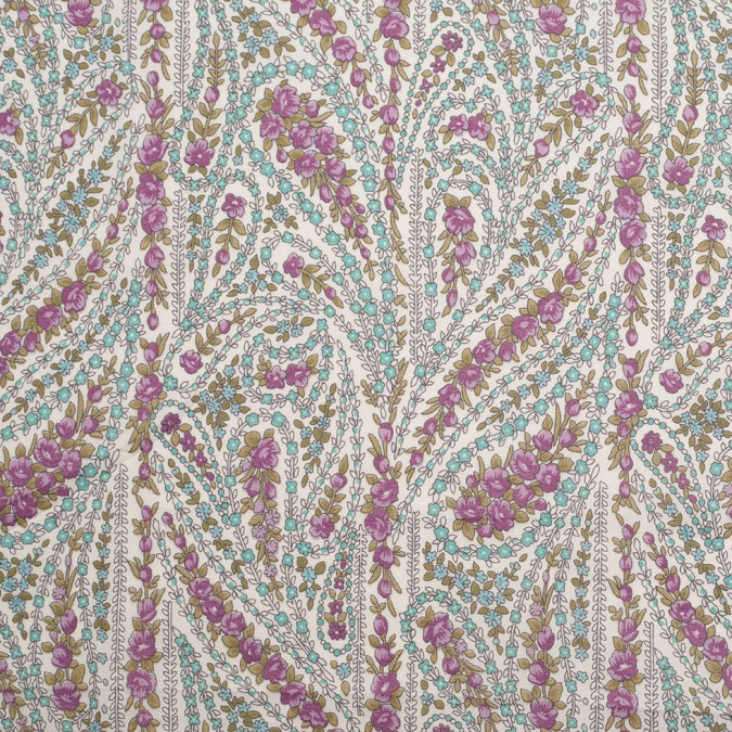 magenta crystal blue paisley printed cotton voile 306344 11