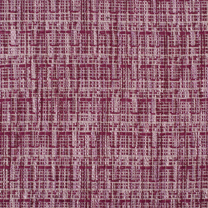 magenta loosely woven polyester tweed 308230 11
