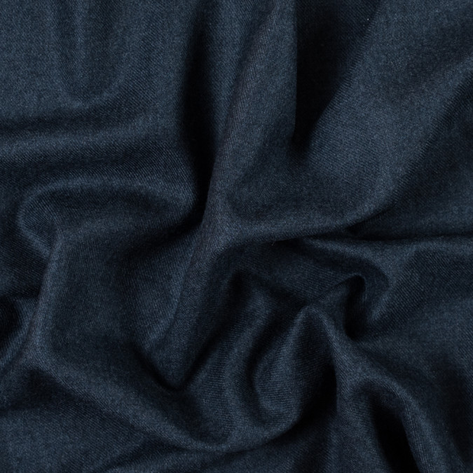 majolica blue brushed wool twill 315256 11