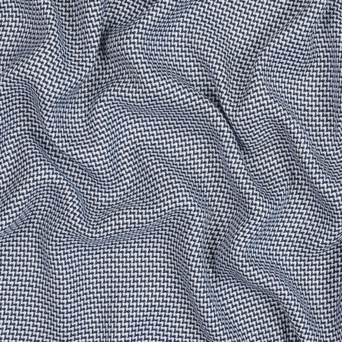 maritime blue and white nailshead cotton blend tweed 319113 11