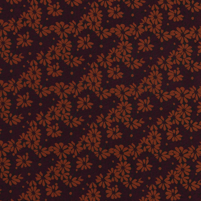 maroon black and rust floral jacquard 318319 11