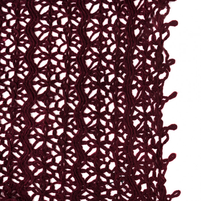 maroon novelty acrylic lace 318414 11