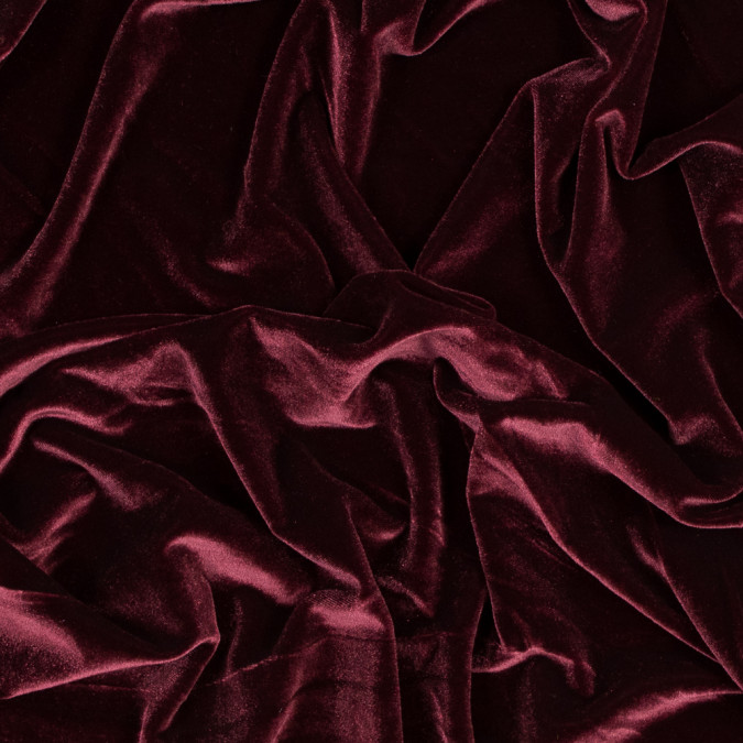 maroon stretch polyester velour 318362 11