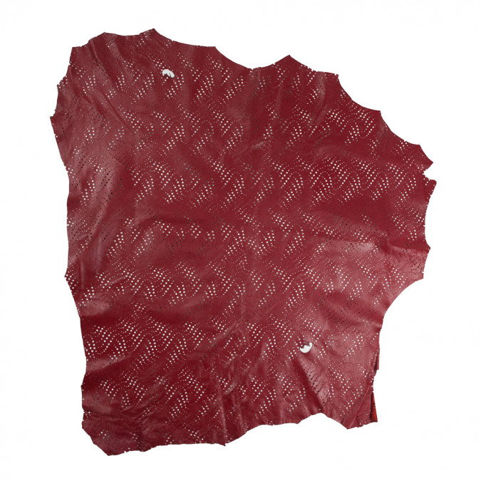 medium brick red abstract perforated lamb leather 310304 11