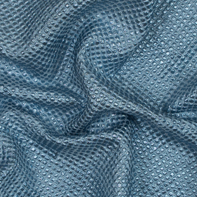 metallic aqua diamond quilted brocade 118971 11