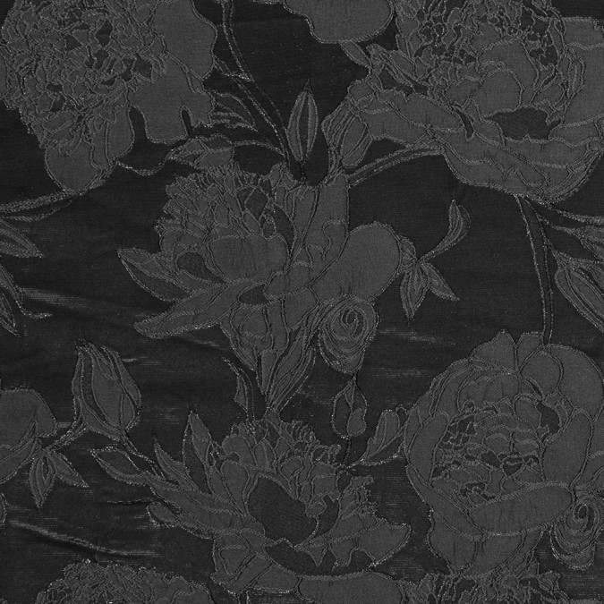 metallic black floral brocade 318152 11