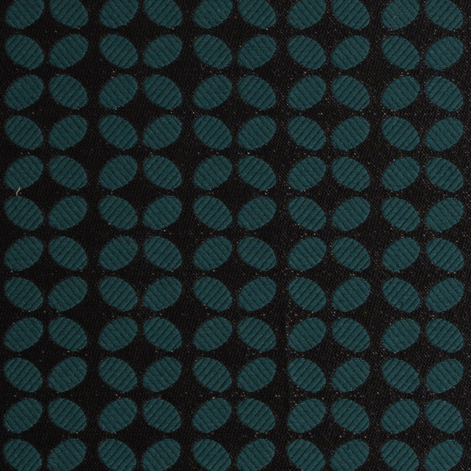 metallic black green geometric brocade 309310 11