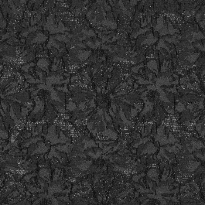 metallic black on black floral brocade 315316 11