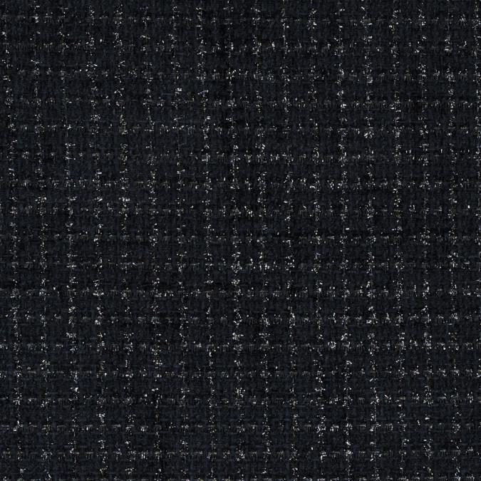 metallic black on black polyester tweed 315192 11