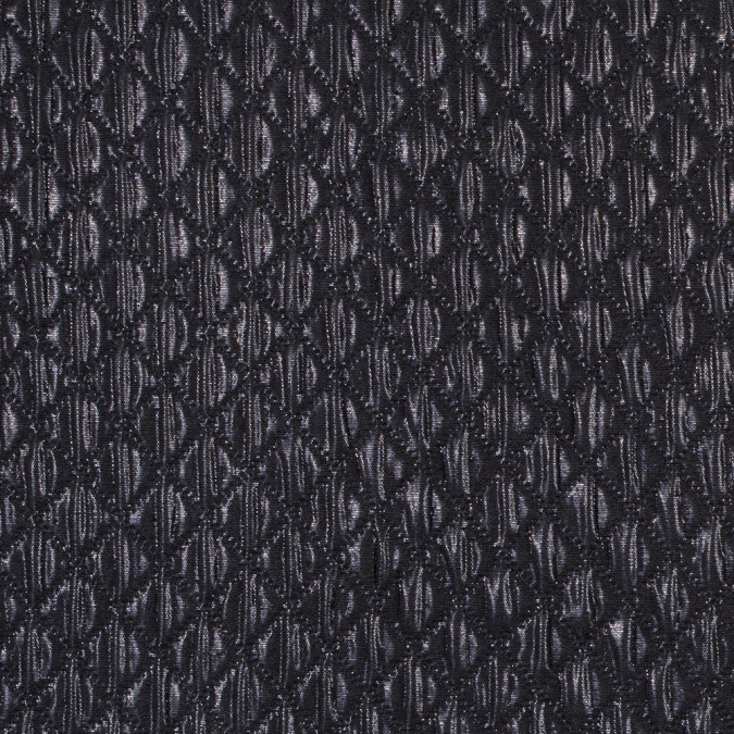 metallic black quilted brocade 311129 11