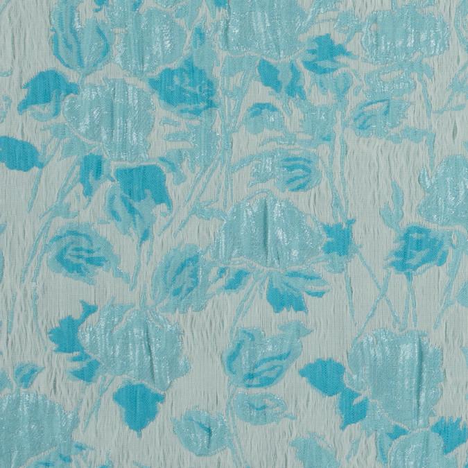 metallic blue atoll blue blush floral brocade jacquard 310846 11