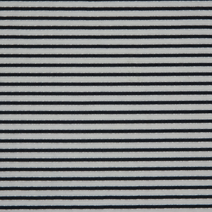 metallic bright white blue nights striped polyester blended seersucker 310888 11